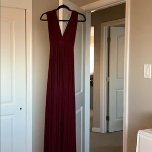 Lulul's burgundy bridesmaid dress